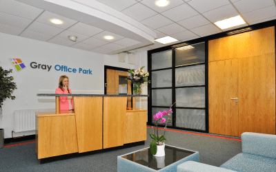 Gray Office Park, Reception. Serviced Office Space Galway City